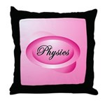 Pink Physics Oval Throw Pillow