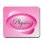 Pink Physics Oval Mousepad