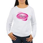 Pink Physics Oval Women's Long Sleeve T-Shirt