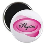 Pink Physics Oval Magnet