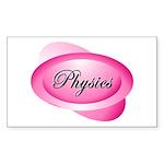 Pink Physics Oval Sticker (Rectangle 10 pk)