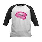 Pink Physics Oval Kids Baseball Jersey