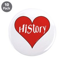 "History Heart 3.5"" Button (10 pack)"