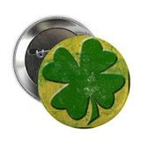 "Shamrock Logo St Patricks Day 2.25"" Button (1"