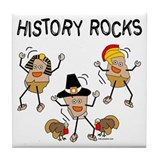 History Rocks Tile Coaster
