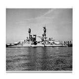 USS Nevada Ship's Image Tile Coaster