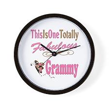 Totally Fabulous Grammy Wall Clock