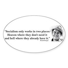 Reagan on Socialism Decal