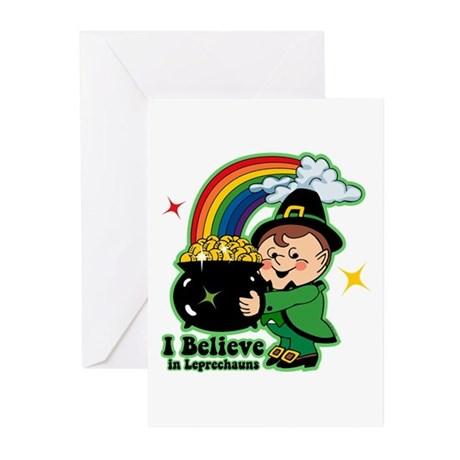 Believe In Leprechauns Greeting Cards (Pk of 20)