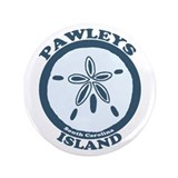 "Pawleys Island SC - Beach Design 3.5"" Button"