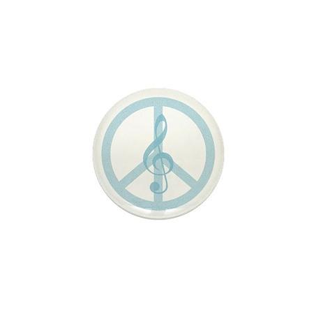 Music Peace Mini Button