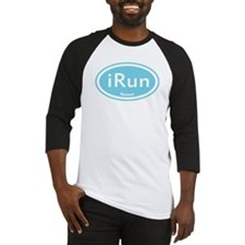 iRun Blue Oval Baseball Jersey