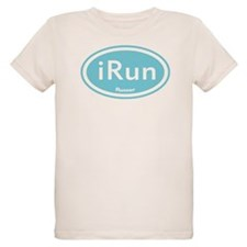 iRun Blue Oval T-Shirt