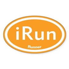 iRun Orange Oval Bumper Stickers