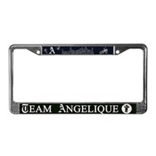 Team Angelique B&W License Plate Frame