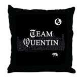 Team Quentin B&W Throw Pillow