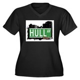 Hull Av, Bronx, NYC Women's Plus Size V-Neck Dark