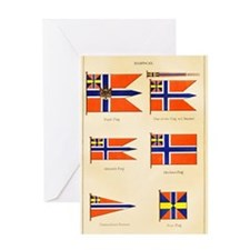 Old Norway Flags Greeting Card