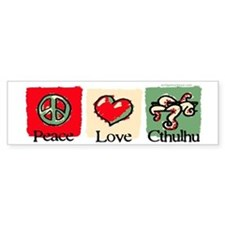 Peace, love, Cthulhu Bumper Sticker