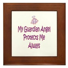 Guardian Angel Protects - Pin Framed Tile