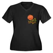 Lamejun King Women's Plus Size V-Neck Dark T-Shirt