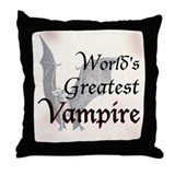 Greatest Vampire Throw Pillow