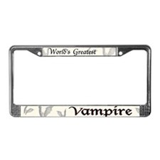 Greatest Vampire License Plate Frame
