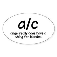 thing for blondes sticker