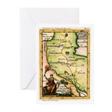 Map of Armenia Greeting Cards (Pk of 10)