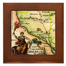 Map of Armenia Framed Tile
