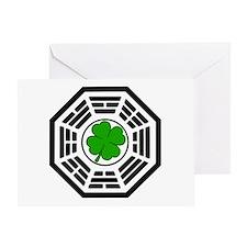 Dharma Initiative Shamrock Station Greeting Card