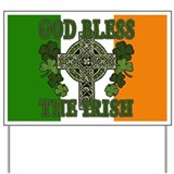 God Bless the Irish Yard Sign