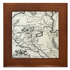 Armenian Map Framed Tile