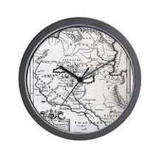 Armenian Map Wall Clock
