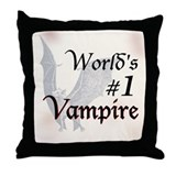 #1 Vampire Throw Pillow
