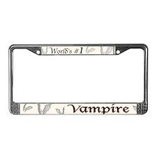 #1 Vampire License Plate Frame