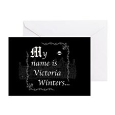 Victoria Winter B&W Greeting Cards (Pk of 20)