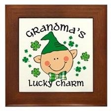 Grandma's Lucky Charm Boy Framed Tile