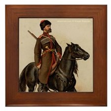 Cossack Soldier Framed Tile