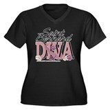 Saint Bernard DIVA Women's Plus Size V-Neck Dark T
