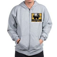 It's Finally Hockey Season Zip Hoodie