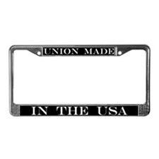 Union Made in the USA Plate Frame