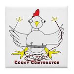 Cocky Contractor Tile Coaster