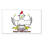 Cocky Contractor Sticker (Rectangle 50 pk)