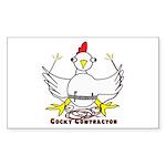 Cocky Contractor Sticker (Rectangle 10 pk)