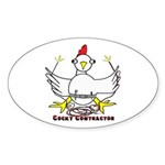 Cocky Contractor Sticker (Oval 50 pk)