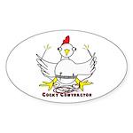 Cocky Contractor Sticker (Oval 10 pk)