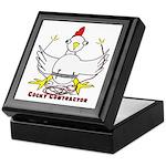 Cocky Contractor Keepsake Box