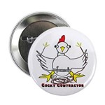 """Cocky Contractor 2.25"""" Button (10 pack)"""