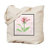 Botanical Illustration Pink Tote Bag